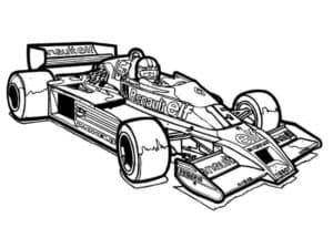 гоночная машина с пилотом