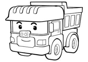 мультяшный грузовик раскраска