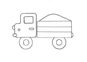 картинка миниатюрный грузовичок