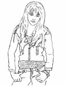 Ханна Монтана в брюках