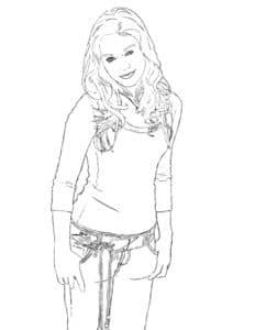 Ханна Монтана раскраска для деток