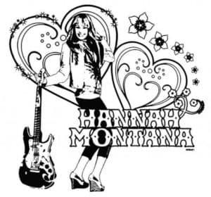Ханна Монтана с гитарой