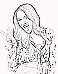 Ханна Монтана раскраска для ребенка