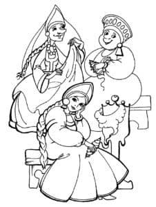 Три сестрицы под окном