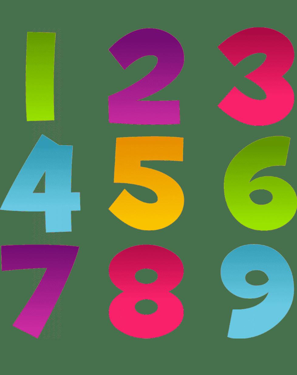 Раскраски Изучаем цифры