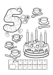 пять чашек и торт