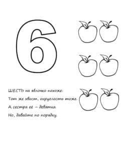 шесть яблок