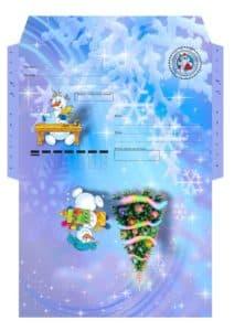 конверт со снежинками