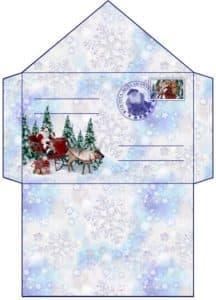 конверт на новый год для письма