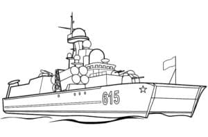 Большой боевой советский корабль 615