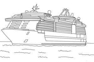 Большой пассажирский корабль