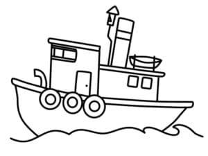 Корабль с тремя спасательными кругами