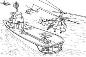 Корабль и вертолеты