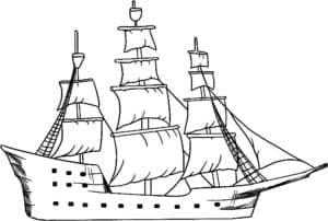 Большой парусный корабль