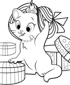 Кошка Мари в панаме