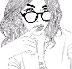крутая девочка в очках