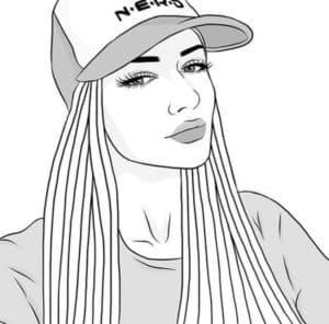 крутая девочка в кепке