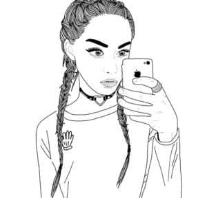 крутая девочка раскраска