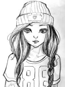 крутая девочка в шапке
