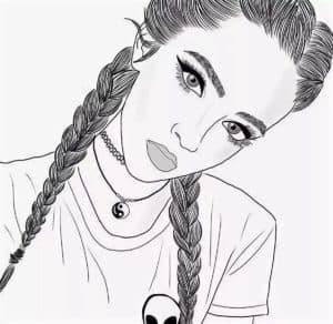 крутая девочка с косами