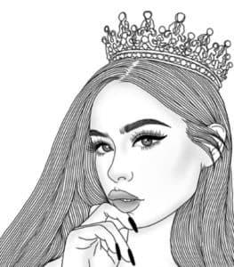 крутая девочка в короне