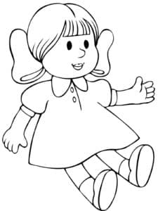 раскраски куклы малышки