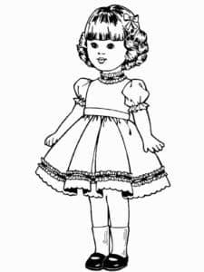 раскраска с куклой формата а4