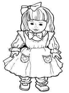 кукла раскраска