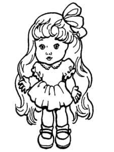 раскраска с маленькой девочкой