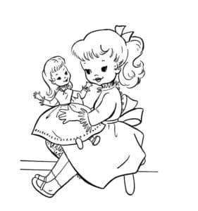 Девочка с игрушкой