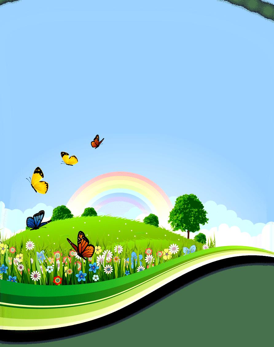 Раскраска Летний пейзаж