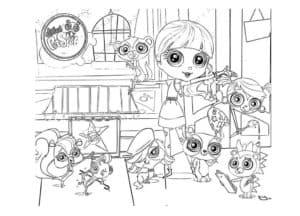 литл пет шоп раскраска детская