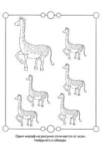 найди большого жирафа