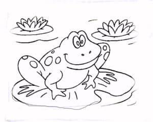 раскраска детская лягушка