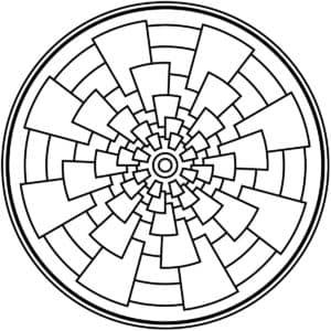 мандала с прямоугольники