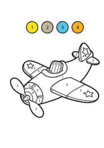 самолет раскраска математическая