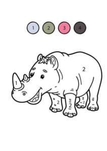 носорог раскраска математическая