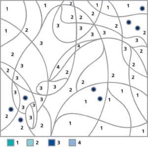 раскраска по номерам детская математическая