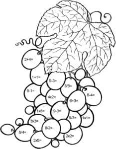 виноград математическая раскраска