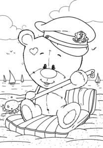 Медвежонок на матрасе