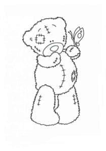мишка Тедди с бабочкой