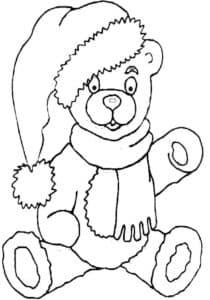 Медведь в шапке и шарфе