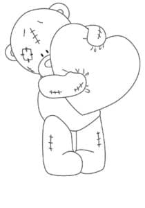 мишка Тедди с огромным сердечком