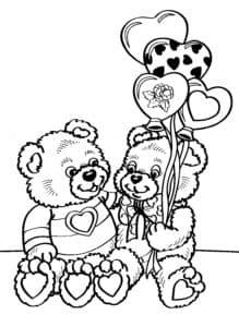 Два медвежонка и воздушные шары
