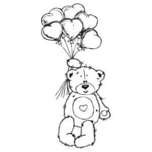 Медвежонок на воздушных шариках