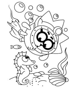ежик из смешариков под водой