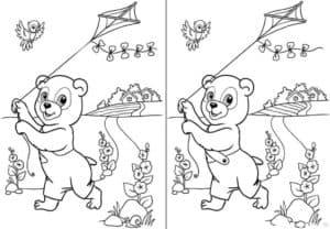 медведь с воздушным змеем отличия