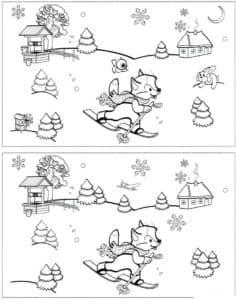 зверек на лыжах