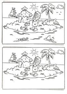 остров найди отличия