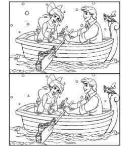 принц с принцессой в лодке
